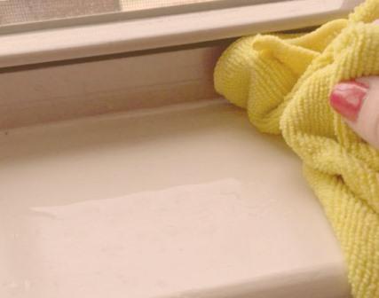 Чем очистить пластиковый подоконник в домашних условиях 894