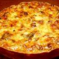 Пирог лоранский с грибами и курицей