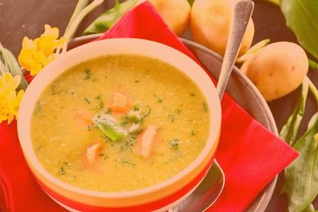 диетический суп и шпинат