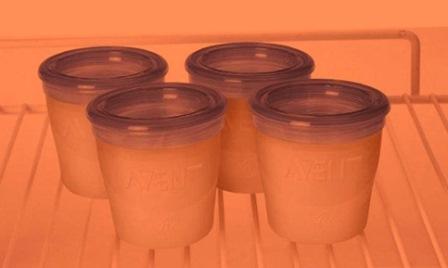 как хранить грудное сцеженное молоко в холодильнике