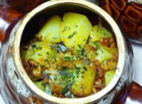 куриное филе с грибами и картофелем